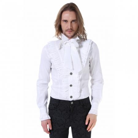 gothic white frill shirt