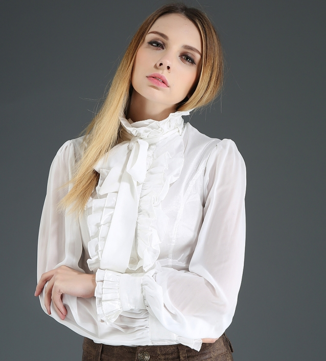 frill neck Pentagramme blouse