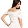 ivory lace off-shoulder blouse (back)