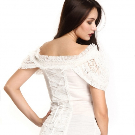 ivory lace off-shoulder blouse (back)