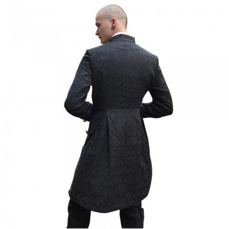 gothic black brocade Pentagramme jacket