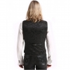 black brocade & faux leather waistcoat (back)