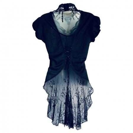 Gothic lace neckband Punk Rave blouse (back)