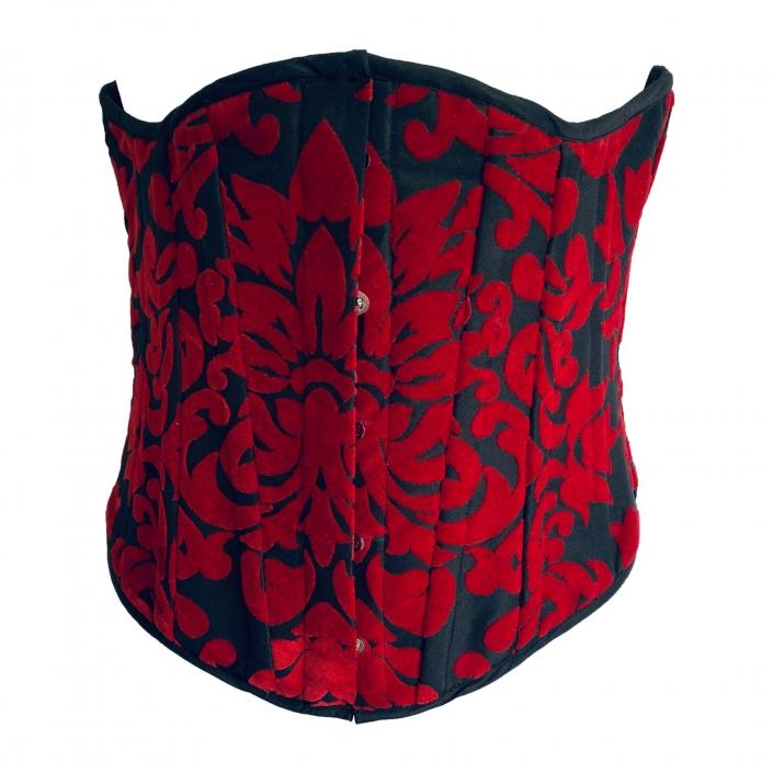 Red on black corset/waspie