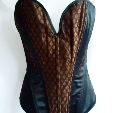 Bronze and black Busk corset
