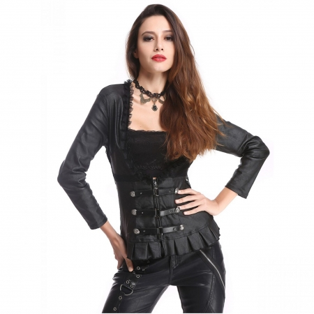 Gothic Pentagramme top lace sides