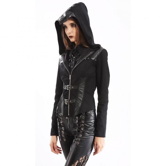 Pentagramme hooded jacket