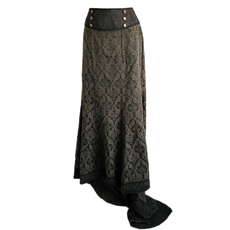 Raven khaki brocade skirt