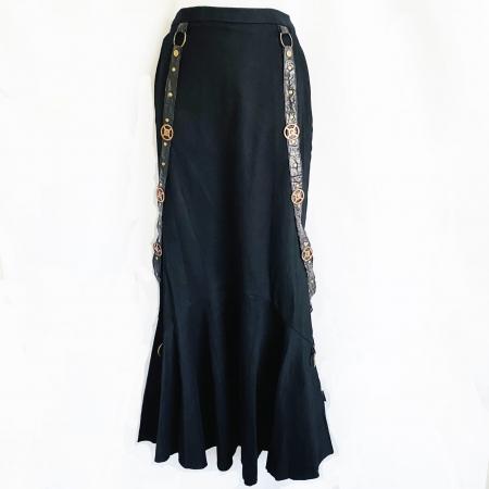Raven steampunk straps skirt