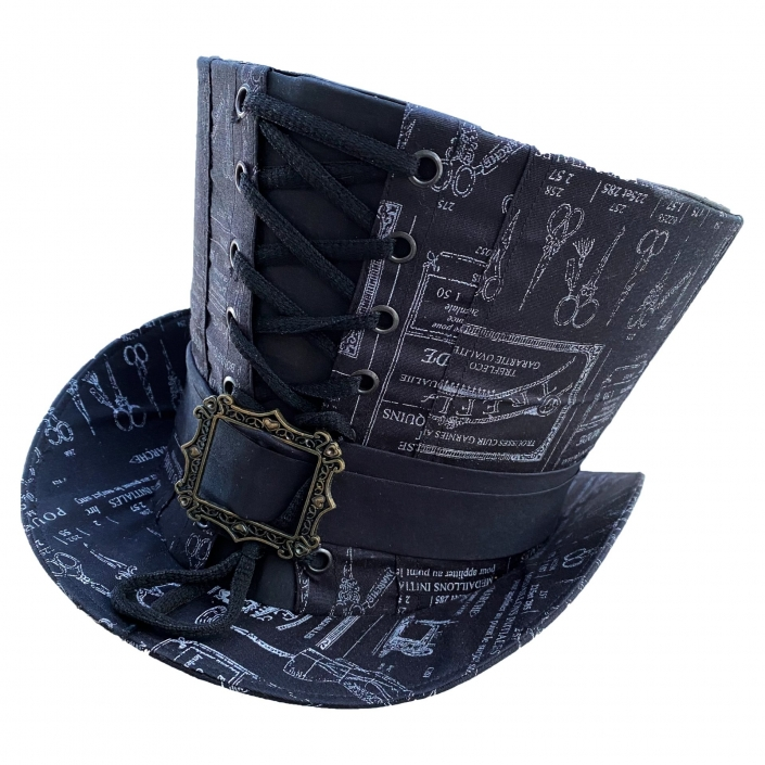 Black Tailor's Fabric Top Hat