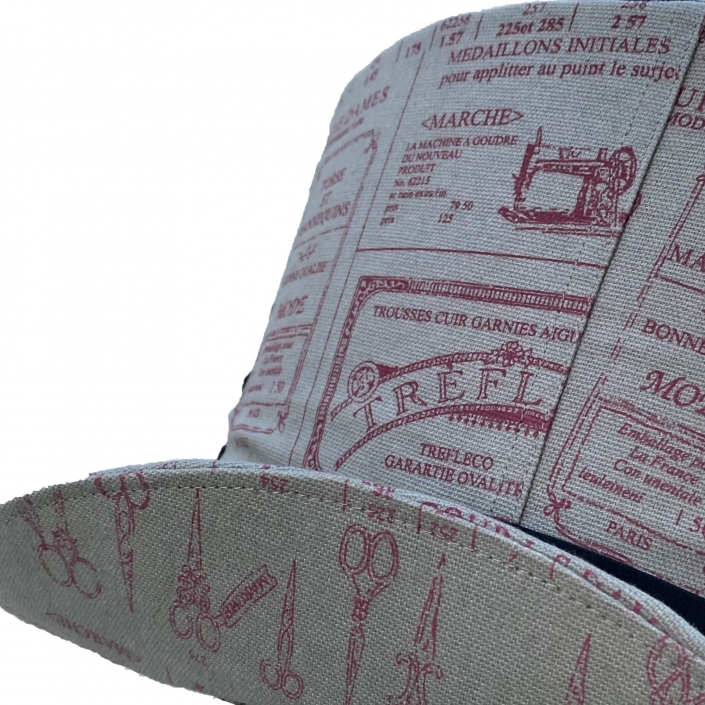 Grey tailor fabric hat