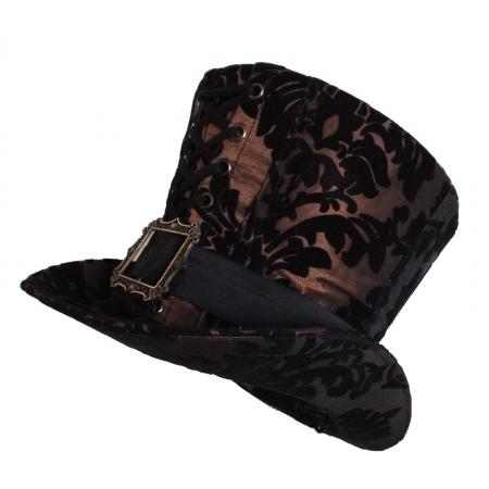 chocolate brown flock hat