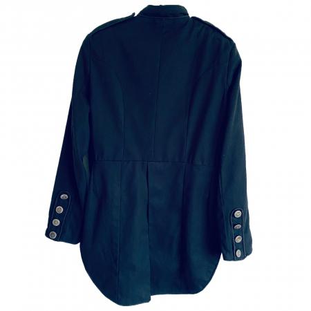 Black military tail jacket. silver braid (back)