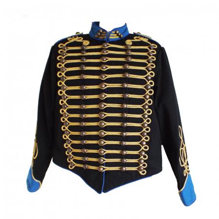 Military jacket blk.royal blue