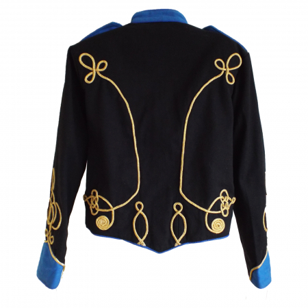 Military jacket black with royal blue