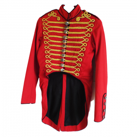 Red military SDL tail jacket